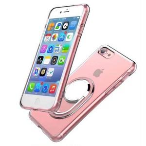 カーホルダー クリア スタンド iPhone シェルカバー ケース ブラック シルバー ゴールド ピンク シンプル ★ iPhone SE / 5 / 5s / 6 / 6s / 6Plus / 6sPlus / 7 / 7Plus / 8 / 8Plus / X ★ [MD198]