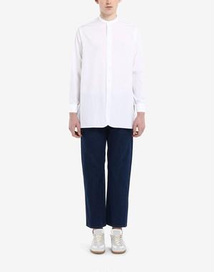 【Maison Margiela】《21SS》ポプリンカラーレスシャツ S50DL0462