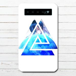 #014-005 モバイルバッテリー おすすめ iPhone Android 海 クラゲ 綺麗 スマホ 充電器   タイトル:jellyfish 作:しゅり