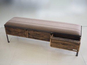 品番UEM3-106  3drawer ottoman[nerrow/European military blanket]