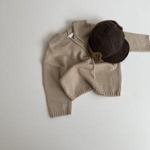 601. knit hoodie / beige