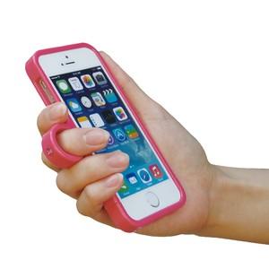 【ジュエルフォン】カラータイプ<ローズピンク>(iPhone5/5s/SE)