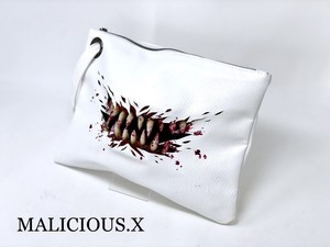 blood creature clutch bag / White