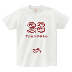 H/A 23 YEARS OLD T-SHIRTS WHITE