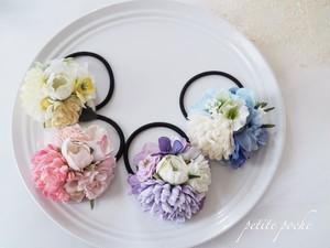 petite poche お花のヘアゴム