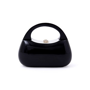 Mandy Handbag - midnight black with white inlay