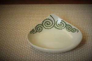 タコ唐草(緑)しずく小皿