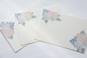 メッセージカード『雨降り紫陽花』