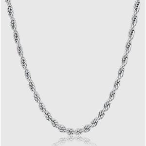 Diamond Cut Rope Chain 【5mm/SILVER】