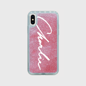 Charlie Glitter iPhone Case (LOGO)