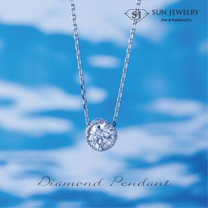 ダイヤモンドペンダント 0.22ct(ミルデザイン)