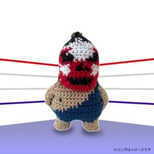 【R】リキシ・ザ・マツコグレートのマスコット(ストラップ)- 編みぐるみ -