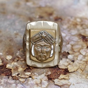 Vintage Mexican Biker Ring / ヴィンテージ メキシカン バイカー リング アステカ族