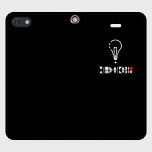 【SE】ロゴ(文字入り)iPhoneケース手帳型黒