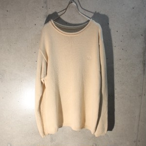 DKNY Roll Neck Cotton Knit