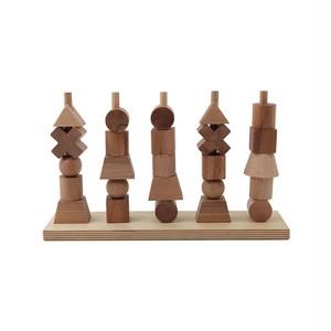 """《送料込》Wooden story """"Stacking Toy"""" Natural(ウドゥンストーリースタッキングトイ 木製おもちゃ )"""