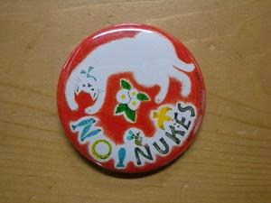NO!NUKES缶バッジ(ネコ/どいかや)