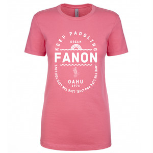[WOMAN] KEEP PADDLING TEE -HOT PINK-