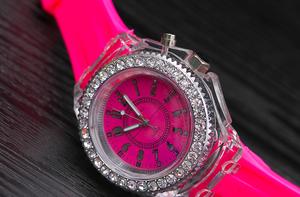 カラフル腕時計(ピンク)