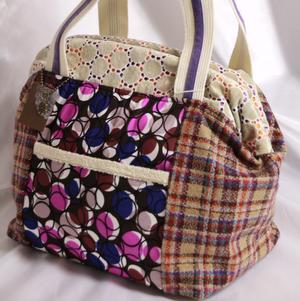 紫ウールのドクターズバッグ