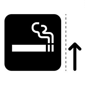 喫煙スペース案内マークのカッティングシートステッカー