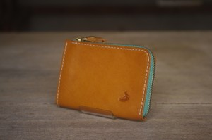tenohira purse (YELLOW×EMERALD)