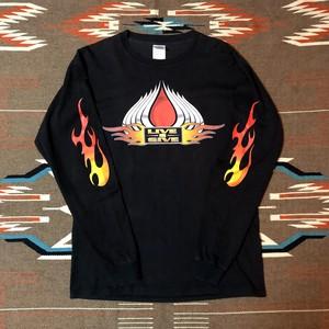 ハーレーダビッドソン ビンテージ ロンT ファイヤーパターン 袖フレイムス Harley-Davidson LONG SLEAVE T-Shirts Fire Pattern