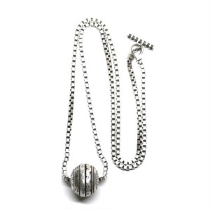 Lisa Jenks Sterling Silver Venetian Chain & Sphere Top Necklace