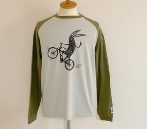 【予約商品:8月末予定】Shabby Bicycle Raglan Long Sleeve T-shirts Khaki