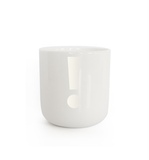 PLTY - Mug - GLYPHS(! Pearl White)