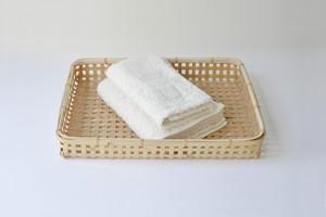 bamboo tray (L) / 竹の四つ目トレイ (大)