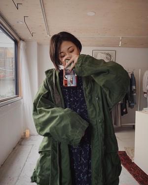 remake / military nocollar coat