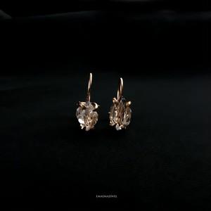 6.06 ct RAINBOW HERKIMER  DIAMOND EARRINGS