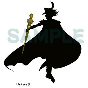 ヘルメス神とケリュケイオンの杖のイラスト素材png透過(5000×5000pixel)