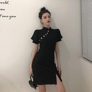 【ワンピース】レディース ファッション 通販人気レトロスリットデートセクシーワンピース21640692