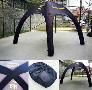 空気で膨らむ次世代型テント『エアクイック』 4m ×4m × 高さ:3m