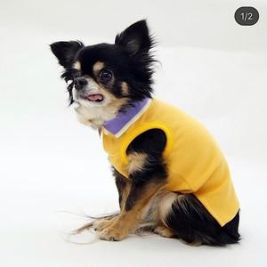 オシャレなポロシャツ イエロー 【サイズオーダー違い可能】 犬服 小型犬 中型犬 大型犬