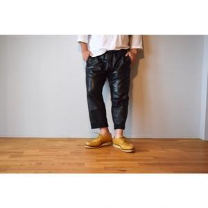 Simva123-0053-BK Leather Easy Pant Black