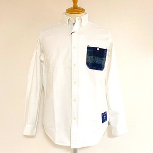 Oxford Shaggy MOON Pocket BD Shirts Off White