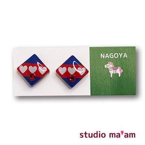 ■NAGOYA-11  ピアス。しかく。〜イヤリング変更可〜