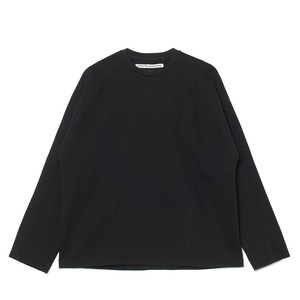 DARTED LONG SLEEVES T-SHIRT - BLACK