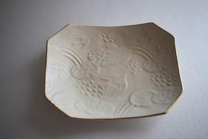 前田葉子|角皿・白