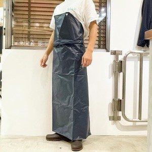 One-touch waterproof apron       Navy / White