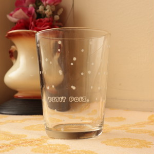 昭和レトロ ファンシー  Luminarc 水玉グラス