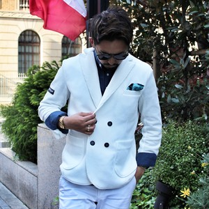 Italinan casual double jacket /white