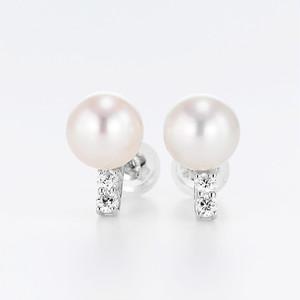 Classy K18WG Pearl Diamond Pierce (パール ダイヤモンド ピアス)