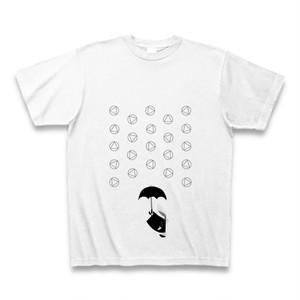 理系Tシャツ【天気記号/あられ/ホワイト黒】-(Scien-T'st)Weather Symbol/SnowPellets/White-Black
