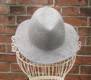 TheDelight WOOL FEDORA HAT(ウール 中折れ ハット)GREY