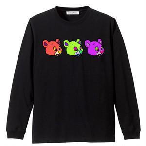 PSYCHOWORKS 3bear long sleeve t-shirt B-PGV