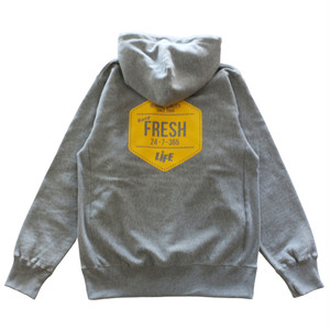 KEEP FRESH LOGO PULLOVER HOODIE / LIFEdsgn